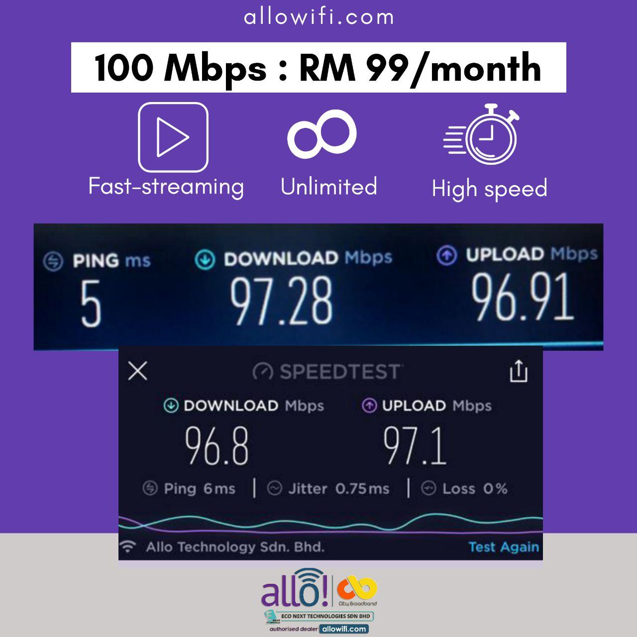 100 Mbps Allo Wifi