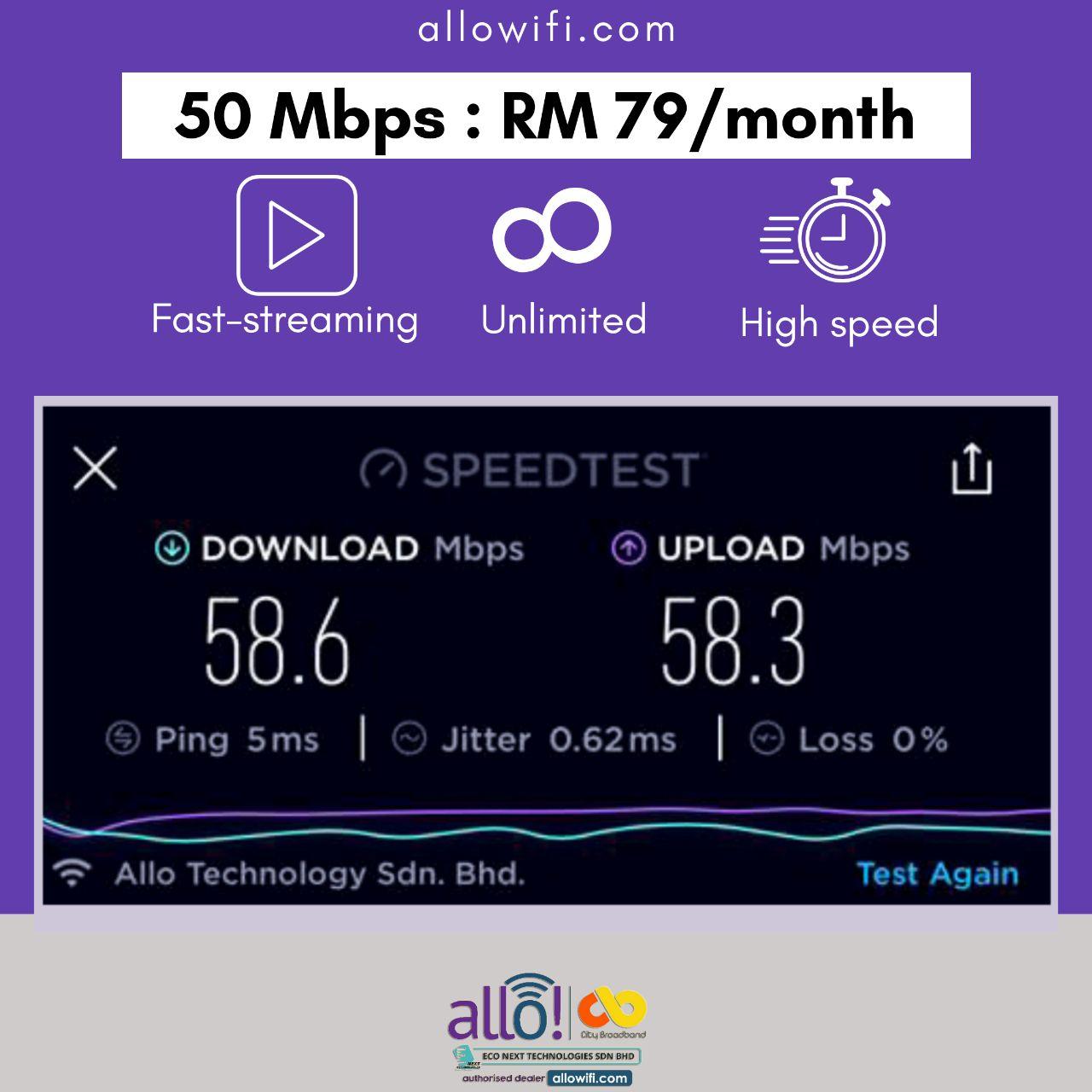 50 Mbps Allo Wifi