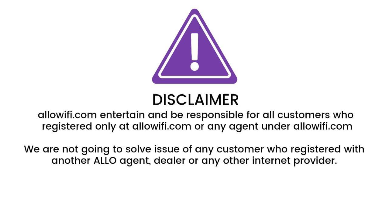 Allo Wifi Disclaimer