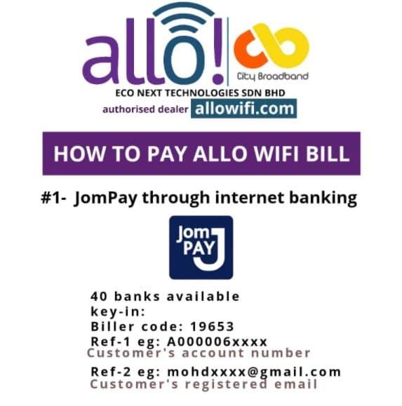 Pay ALLO with jomPay - Allo Wifi